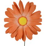 PLA108 Gerbera Parchment Flower Orange 95cm