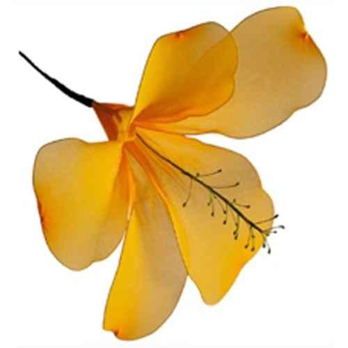 PLA105 Yellow hibiscus 71cm
