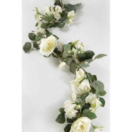 PLA063 White rose Garland 1