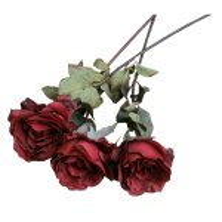 PLA035A Single Rose Dark Red