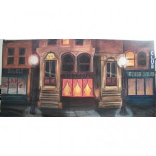 +PRO001 Backdrop 6mx3m 1930's Street Scene 1
