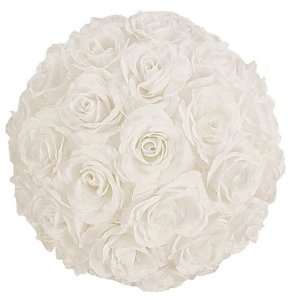 PLA090 White Rose Ball 28cm