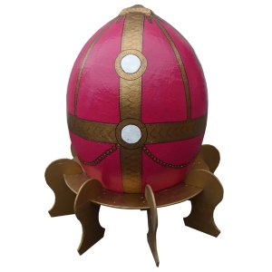 +RUS201 Faberge Egg - red