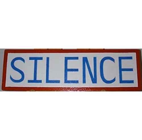+SCH103 Silence Sign web