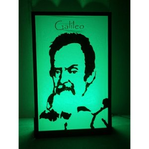 +SPA105 Galileo silhouette lit in green
