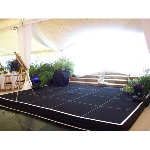 Stage in marquee