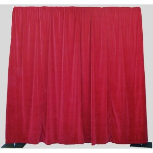+STD056 Red Velour Drape