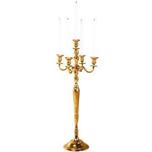 +CAN015 Gold Candelabra 70cm height