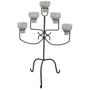 +CAN005 5 lamp Iron Candelabra