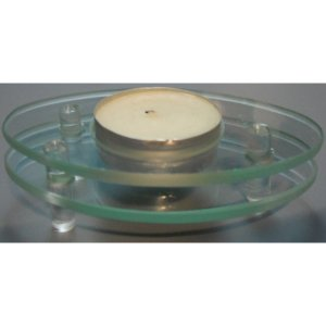 +CAN050B Double Glass Tee Light Holder