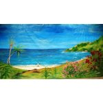 +CAR004 Backdrop Beach Palms & Greenery 6m x 3m