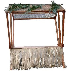 +CAT016B Bamboo Thatch Roof for Market Stall  1