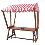 +CAT015-R Market Stall with red Canopy