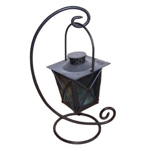 +CAN010 Metal Candle Lantern with table crook