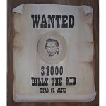 +WWE105A Wanted Poster Billy the Kid