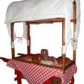 +CAT010B Wild West Canopy with  Hand Cart