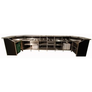 +BAR138 Portabar 8 Bay Curved Ends 2x Ice Chest, Bin & Sink