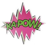 +SUP100B KA-POW sign close up