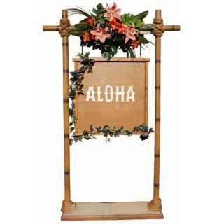 +HAW200 Aloha sign cw frame
