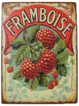 +VIN310.1 Metal Framboise Sign