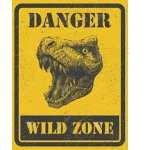 +PRE302 Danger Wild Zone Sign