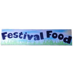 +FES100 Festival Food sign