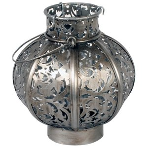 +MOR311 Morocco Globe Small Burnished Steel 18