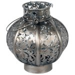 +MOR311 Morocco Globe Small Burnished Steel 18.5cm