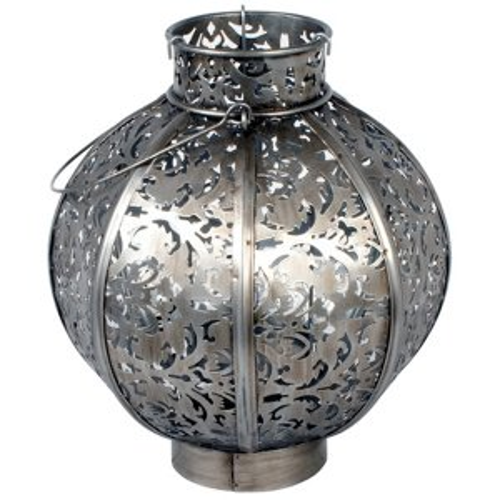+MOR311A Morocco Globe Medium Burnished Steel 26cm