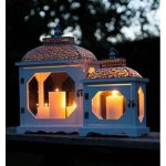 +CAN021 Victorian Wide Lantern set of 2 Outside