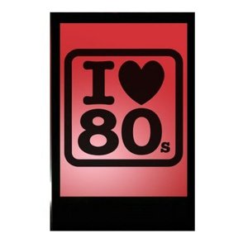 +EIG119E I love 80s silhouette
