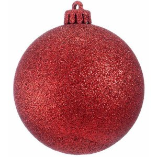+CHR335XR.G Red Bauble Glitter