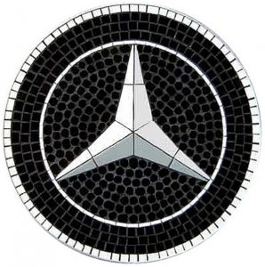 +GRP223 Mercedes Mosaic Tile Wallhanging