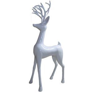 +CHR201A White Standing Reindeer