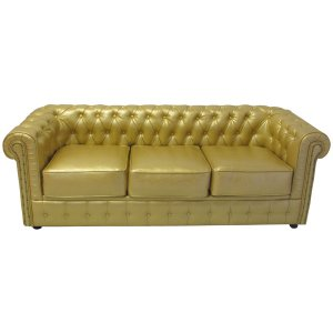 FUR401G Chesterfield 3 seater in Gold