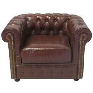 +FUR240BR Chesterfield Chair Brown