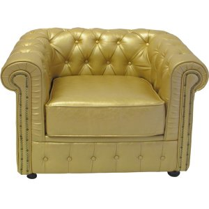 +FUR240G Chesterfield Chair Gold