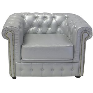 +FUR240S Chesterfield Chair Silver