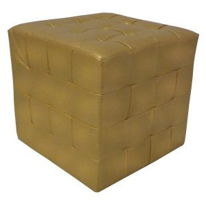 FUR339 Cube Seat Gold Faux Leather