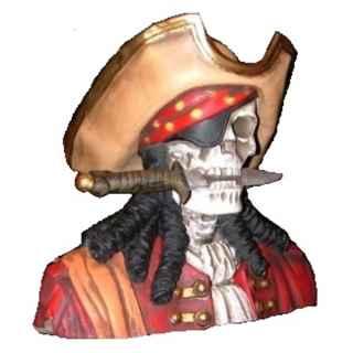 +PIR212 Pirate Skull Bust