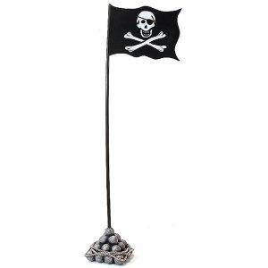 +PIR221 Pirate Flag with Mast
