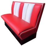 FUR468 Red and White Seat bench