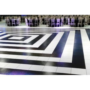 Geometric Black and White Dancefloor