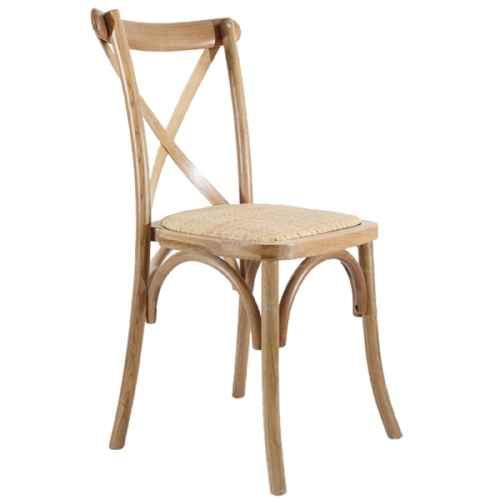 FUR213 Crossback Chair Oak cw Rattan Seat