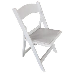FUR204 White Resin Folding Chair