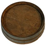+MED307 Wooden Barrel Top