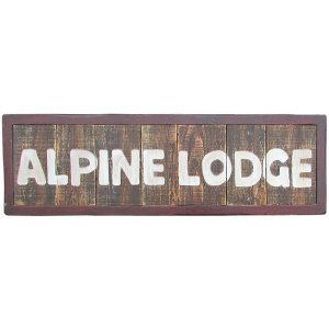 CHR109 Alpine Lodge Entrance Sign