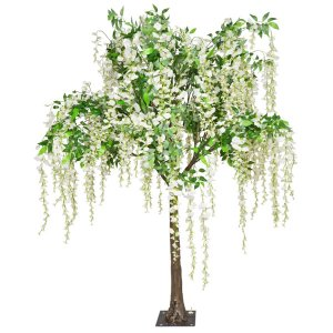 Cream Hanging Wisteria Tabeltop Tree