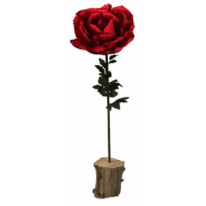 PLA140R Giant Red Rose 165cm