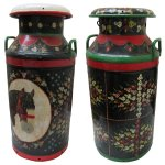 +VIN213 Vintage Milk Churns hand painted